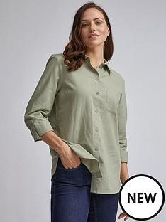 dorothy-perkins-dorothy-perkins-sage-linen-shirt-sage