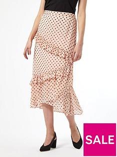 dorothy-perkins-dorothy-perkins-blush-spot-ruffle-midi-skirt
