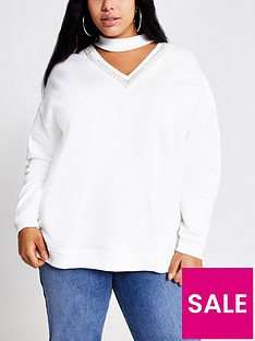 ri-plus-embellished-choker-sweatshirt-white