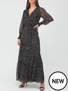 v-by-very-georgette-wrap-maxi-dress-spot-print