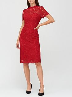 v-by-very-high-neck-lace-pencil-dress-deep-red