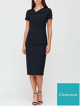 v-by-very-asymmetric-neckline-pencil-midi-dress-with-shapewear-black