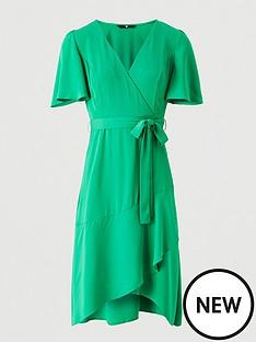 v-by-very-serena-ruffle-wrap-midi-dress-green