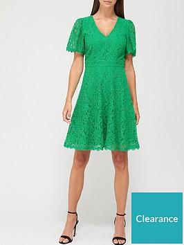 v-by-very-v-neck-lace-skater-dress-green