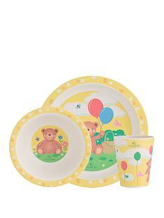 viners-bertie-bear-3-piece-kids-dinner-set