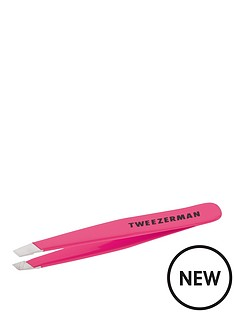tweezerman-mini-slant-tweezer-neon-pink