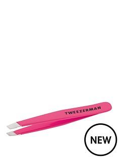 tweezerman-tweezerman-mini-slant-tweezer-neon-pink