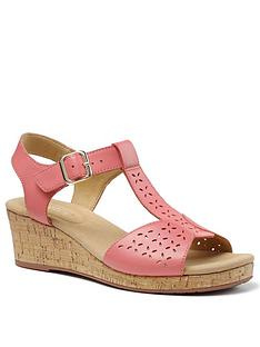 hotter-martinique-wedge-heeled-t-bar-sandals-coral