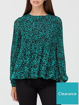 v-by-very-printed-pleated-long-sleeve-top-green-floral