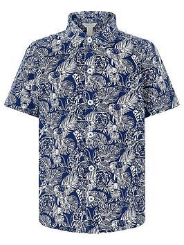 monsoon-boys-george-animal-print-short-sleeve-shirt-navy