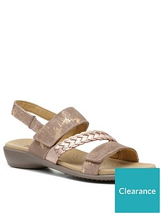 hotter-ripple-smart-casual-strappy-sandals-rose-gold