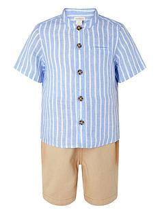 monsoon-boys-sonny-stripe-shirt-and-stone-short-set-blue