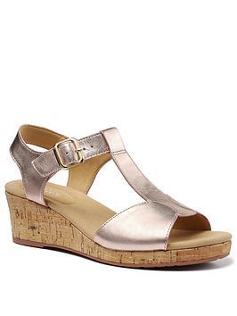 hotter-martinique-wide-fit-wedge-heeled-t-bar-sandals-rose-gold