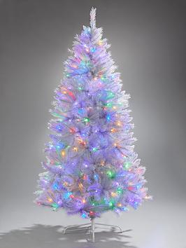 6ft-white-regal-pre-lit-multifunction-dual-colour-led-christmas-tree