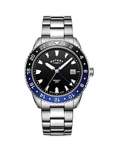 rotary-rotary-henley-black-date-dial-with-blue-fade-bezel-and-stainless-steel-bracelet-mens-watch