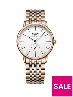 rotary-rotary-white-dial-rose-gold-and-silver-two-tone-stainless-steel-bracelet-mens-watch