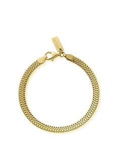 chlobo-gold-plated-silver-the-tide-snake-bracelet-gold