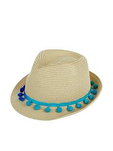 monsoon-girls-pom-pom-trilby-hat-natural