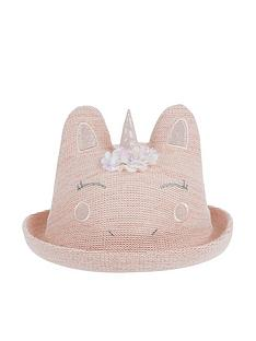 monsoon-baby-girls-unicorn-bowler-hat-pink