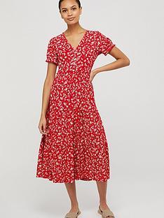 monsoon-natty-ditsy-print-midi-dress-red