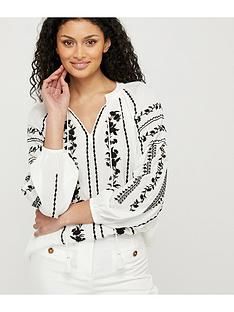 monsoon-sienna-embroiderednbsptop-ivory