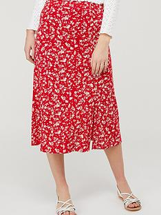 monsoon-natty-ditsy-print-midinbspskirt-red