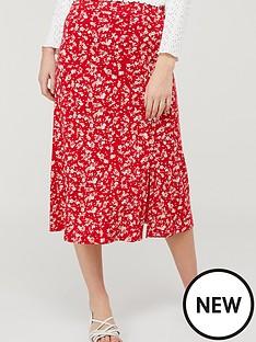 monsoon-natty-ditsy-print-midinbspskirt-red