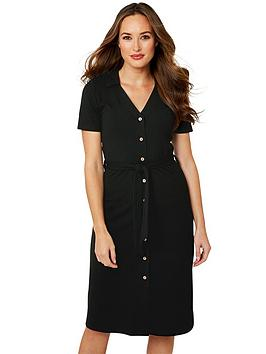 joe-browns-versatile-ribbed-dress-black