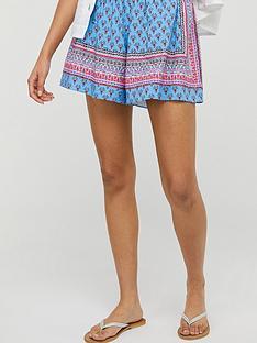 monsoon-dahlia-print-ecovero-shorts-blue