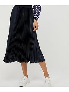 monsoon-penny-pleated-skirt-navy