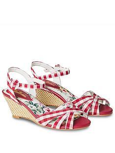 joe-browns-american-diner-wedge-sandals-red