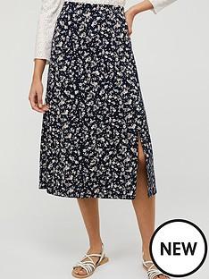 monsoon-natty-ditsy-print-skirt-navy