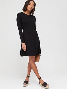 v-by-very-long-sleeve-seam-details-swing-dressnbsp--black