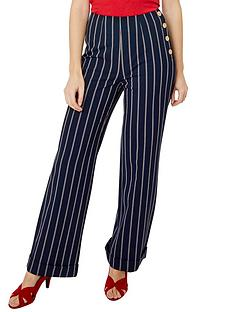 joe-browns-stripe-wide-leg-trousers-navy