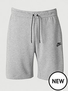 nike-sportswear-fleece-tech-shorts-grey
