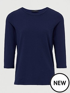 v-by-very-the-essential-three-quarter-sleeve-crew-neck-t-shirt-navy