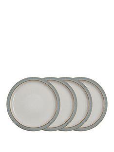 denby-elements-light-grey-speckle-dinner-plates-ndash-set-of-4