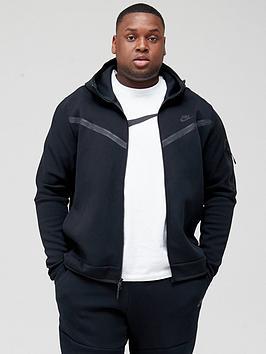 nike-sportswear-plus-size-tech-fleece-full-zip-hoodie-black
