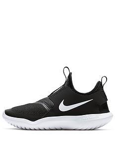 nike-flex-runner-childrens-trainer-black-white