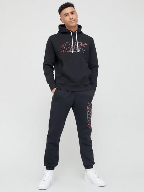 nike-sportswear-hooded-fleece-tracksuit-black