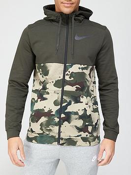 nike-training-dry-full-zip-hoodie-khaki
