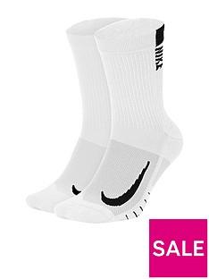prod1089713943: 2 Pack ofRunning Crew Socks - White