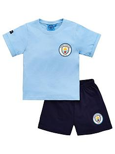 manchester-city-boys-footballnbspshortie-pyjamas-blue
