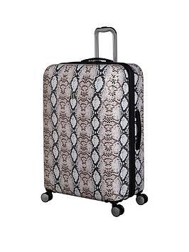 it-luggage-sheen-snake-print-large-case