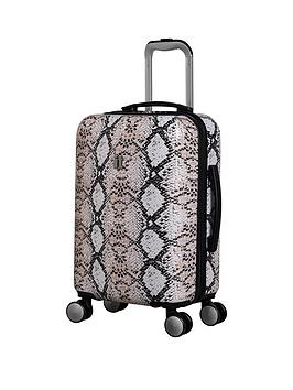 it-luggage-sheen-snake-print-cabin-case
