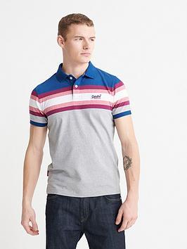 superdry-malibu-stripe-polo-top-grey