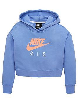 nike-airnbspolder-girlsnbspcrop-hoodie-blue