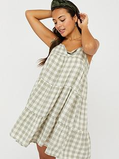 accessorize-gingham-strappy-dress-green