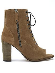 mint-velvet-aston-khaki-peep-toe-boots