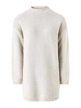 missguided-missguided-high-neck-ribbed-dress-grey